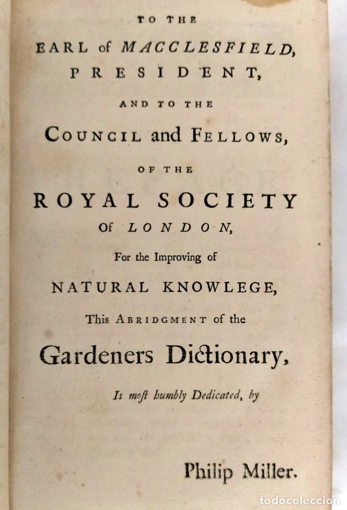 Libros antiguos: AÑO 1754: DICCIONARIO DE LOS JARDINEROS: ÁRBOLES, FLORES, PLANTAS...LONDRES. - Foto 7 - 200296106