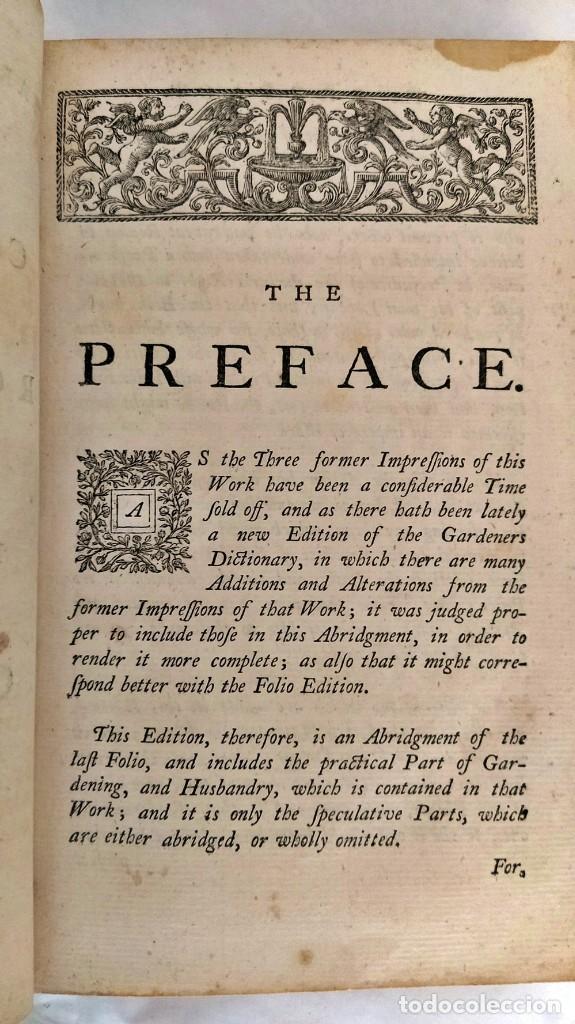 Libros antiguos: AÑO 1754: DICCIONARIO DE LOS JARDINEROS: ÁRBOLES, FLORES, PLANTAS...LONDRES. - Foto 8 - 200296106