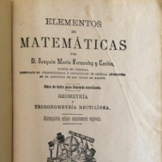 Libros antiguos: ELEMENTOS DE MATEMATICAS 1892. Lote 200525275
