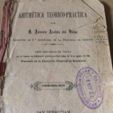 Libros antiguos: ANTONIO ANDRES DE VILLAR 1897. Lote 200794317