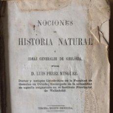 Libros antiguos: LUIS PEREZ MINGUEZ (GEOLOGIA 1866). Lote 201327796
