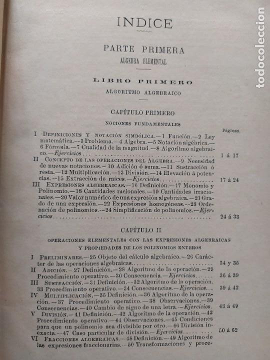 Libros antiguos: ALGEBRA POR D. IGNACIO SALINAS Y ANGULO Y D. MANUEL BENÍTEZ Y PARODI. TOLEDO, 1892 - 1893 VER FOTOS - Foto 11 - 201713175