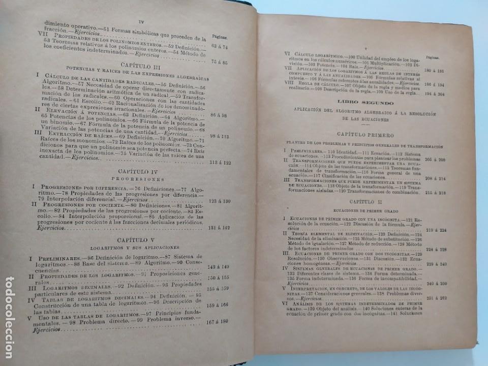 Libros antiguos: ALGEBRA POR D. IGNACIO SALINAS Y ANGULO Y D. MANUEL BENÍTEZ Y PARODI. TOLEDO, 1892 - 1893 VER FOTOS - Foto 12 - 201713175