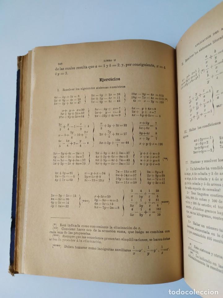 Libros antiguos: ALGEBRA POR D. IGNACIO SALINAS Y ANGULO Y D. MANUEL BENÍTEZ Y PARODI. TOLEDO, 1892 - 1893 VER FOTOS - Foto 14 - 201713175