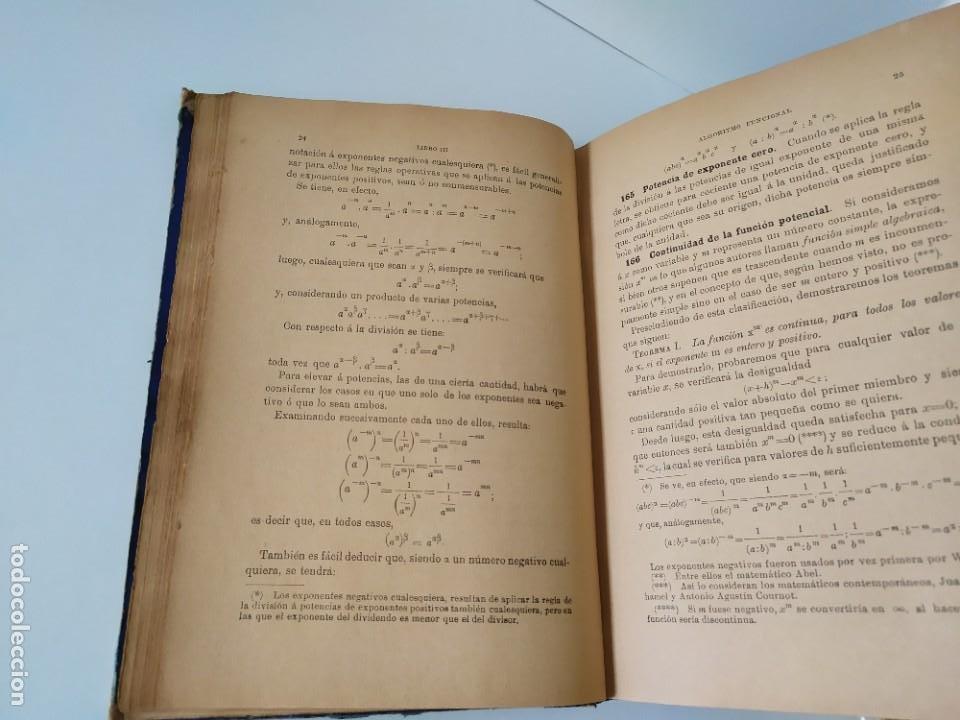 Libros antiguos: ALGEBRA POR D. IGNACIO SALINAS Y ANGULO Y D. MANUEL BENÍTEZ Y PARODI. TOLEDO, 1892 - 1893 VER FOTOS - Foto 25 - 201713175