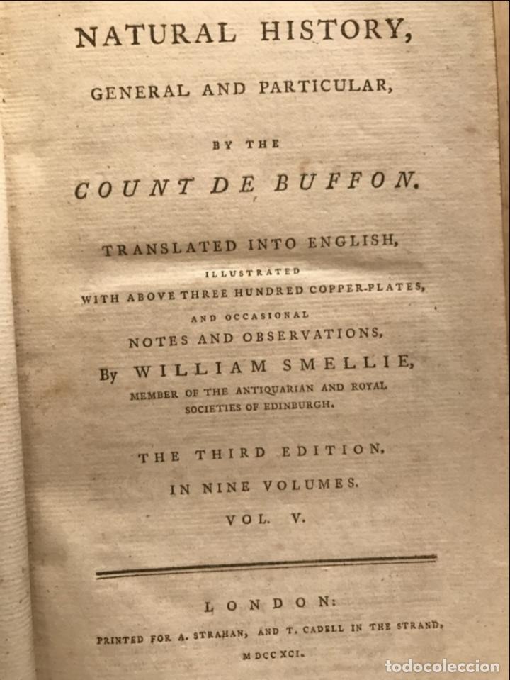 Libros antiguos: NATURAL HISTORY GENERAL..., 7 tomos, 1985 y 1991. BUFFON/WILLIAM SMELLIE. 291 grabados - Foto 48 - 202015646