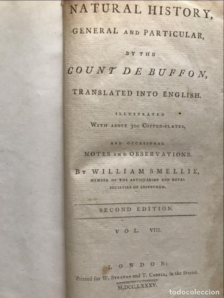 Libros antiguos: NATURAL HISTORY GENERAL..., 7 tomos, 1985 y 1991. BUFFON/WILLIAM SMELLIE. 291 grabados - Foto 70 - 202015646