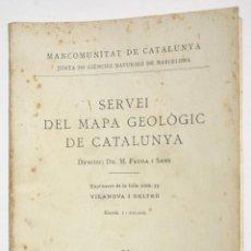 Libros antiguos: VILANOVA I GELTRÚ - M FAURA I SANS. Lote 202689958