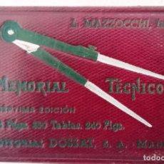 Livros antigos: MEMORIAL TECNICO (DE BOLSILLO PARA) INGENIEROS Y ARQUITECTOS. Lote 202700227