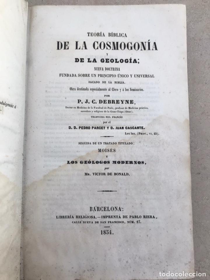 TRATADO DE COSGOMONÍA Y GEOLOGÍA 1854. LIBRO SIGLO XIX (Libros Antiguos, Raros y Curiosos - Ciencias, Manuales y Oficios - Paleontología y Geología)