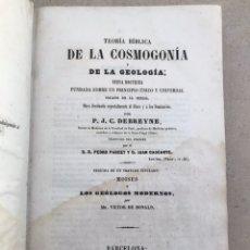 Libros antiguos: TRATADO DE COSGOMONÍA Y GEOLOGÍA 1854. LIBRO SIGLO XIX. Lote 202868390