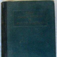 Libros antiguos: MANUAL PRÁCTICO ANÁLISIS BIOLÓGICOS - OTTO FOLIN - ED. JOSÉ MONTESÓ 1930 - VER INDICE. Lote 203778297