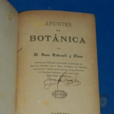Libros antiguos: (MF) JUAN CADEVALL Y DIARS - APUNTES DE BOTÁNICA, TARRASA 1890, IMP. V CUSÓ. Lote 203799260