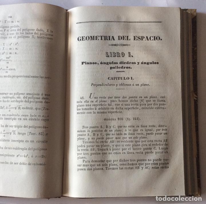 Libros antiguos: TRATADO DE GEOMETRIA ELEMENTAL. y ELEMENTOS DE MATEMATICAS JUAN CORTÁZAR. 1852/1853 - Foto 5 - 204078498