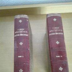 Libros antiguos: ARITMETICA Y CALCULOS MERCANTILES TOMOS I Y II 1897 J. ANGULO. Lote 204747401