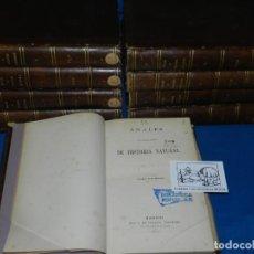 Libros antiguos: (MF) OBRA COMPLETA - ANALES DE LA SOCIEDAD ESPAÑOLA DE HISTORIA NATURAL, MADRID 1872 (9 TOMOS). Lote 204769747