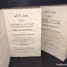 Libros antiguos: LIBRO DE AGRICULTURA - ABU ZACARIA -MADRID, IMPRENTA REAL 1802.2 TOMOS, FOLIO. CABALLOS, ABEJAS.... Lote 205710392