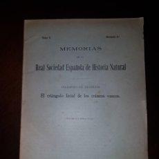 Libros antiguos: EL TRIÁNGULO FACIAL DE LOS CRÁNEOS VASCOS - 1917. Lote 205737438