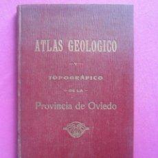 Libros antiguos: ATLAS GEOLOGICO DE LA PROVINCIA DE OVIEDO SCHULZ ADARO 1914 FIRMADO AUTOR L17. Lote 206480042