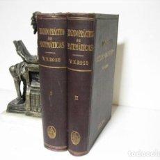 Libros antiguos: TRATADO PRACTICO DE MATEMATICAS PARA INGENIEROS. W. N. ROSE. EDITORIAL LABOR. 1 ED. 1924. Lote 206988741