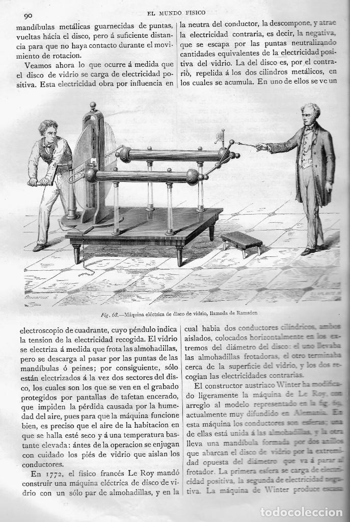 Libros antiguos: EL MUNDO FÍSICO, TOMO III, AMADEO GUILLEMÍN, MONTANER Y SIMON EDITORES, BARCELONA 1883 - Foto 4 - 207040826