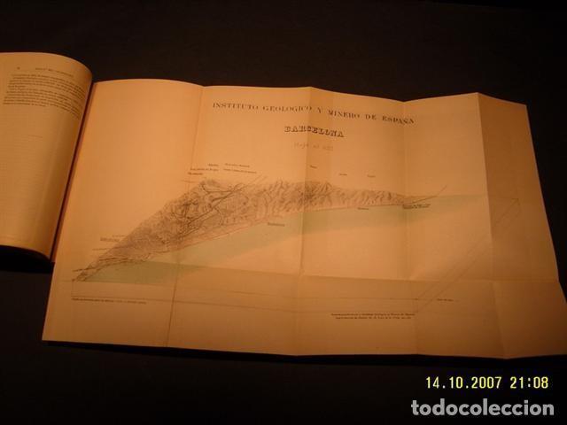 Libros antiguos: Instituto Geológico y minero De España. Mapa geologico De Barcelona - Foto 2 - 207989236