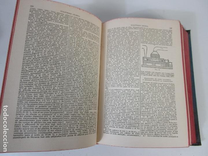 Libros antiguos: Enciclopedia de Química Industrial - Sir Edward Thorpe - Tomos V,VI - Ed Labor - Año 1923 - Foto 10 - 208228715