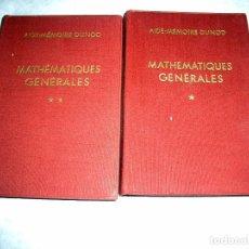 Libros antiguos: MATHÉMATIQUES GÉNÉRALES. M. DENIS-PAPINLT2. Lote 208816838