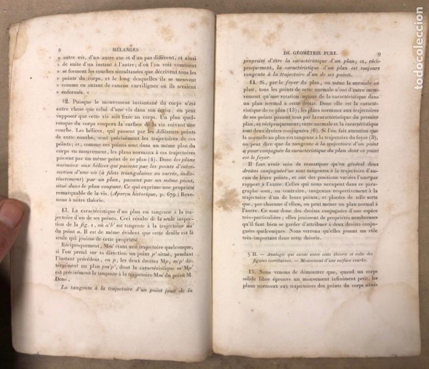 Libros antiguos: MÉLANGES DE GÉOMÉTRIE PURE. TRADUCTION DU TRAITÉ DE MACLAURIN PAR E. DE JONQUIÉRES. 1856 - Foto 3 - 209072340