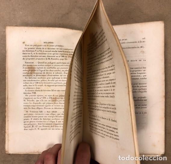 Libros antiguos: MÉLANGES DE GÉOMÉTRIE PURE. TRADUCTION DU TRAITÉ DE MACLAURIN PAR E. DE JONQUIÉRES. 1856 - Foto 5 - 209072340