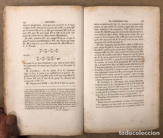 Libros antiguos: MÉLANGES DE GÉOMÉTRIE PURE. TRADUCTION DU TRAITÉ DE MACLAURIN PAR E. DE JONQUIÉRES. 1856 - Foto 7 - 209072340