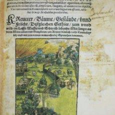 Libros antiguos: HERBARUM DE EGENOLFF 1552 HERBARUM ARBORUM FRUTICUM FRUMENTORUM AC LEGUMINUM COLEGIATA RONCESVALLES.. Lote 209131747