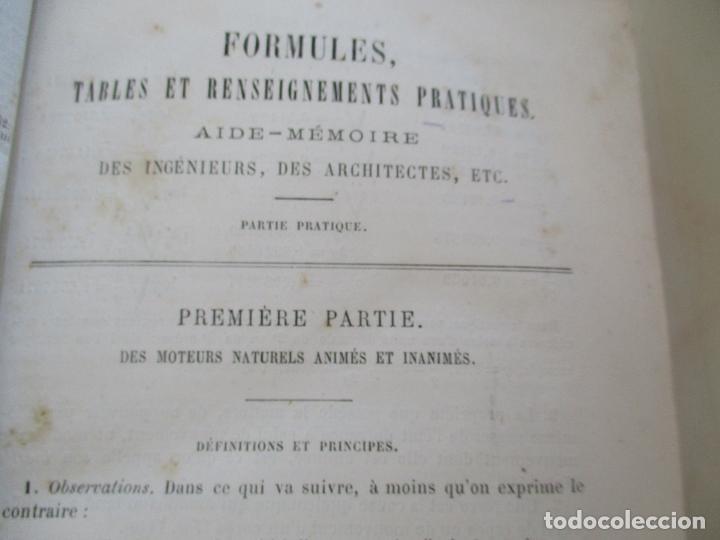 Libros antiguos: FORMULES, TABLES ET RENSEIGNEMENTS PRATIQUES-S/F-AIDE-MÉMOIRE-2 TOMOS - Foto 13 - 209145460