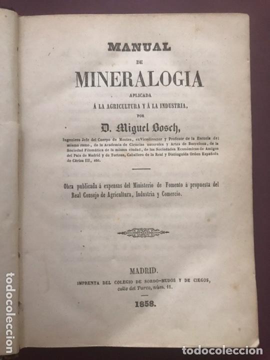 1858 - MIGUEL BOSCH - MANUAL DE MINERALOGÍA Y MANUAL DE BOTANICA (Libros Antiguos, Raros y Curiosos - Ciencias, Manuales y Oficios - Bilogía y Botánica)