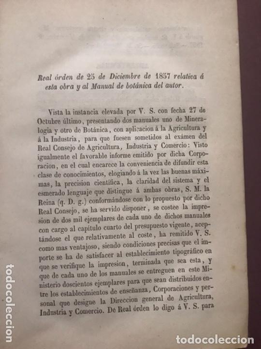 Libros antiguos: 1858 - Miguel Bosch - Manual de mineralogía y Manual de Botanica - Foto 3 - 209238427