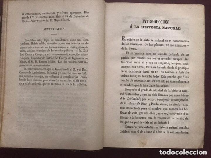 Libros antiguos: 1858 - Miguel Bosch - Manual de mineralogía y Manual de Botanica - Foto 4 - 209238427