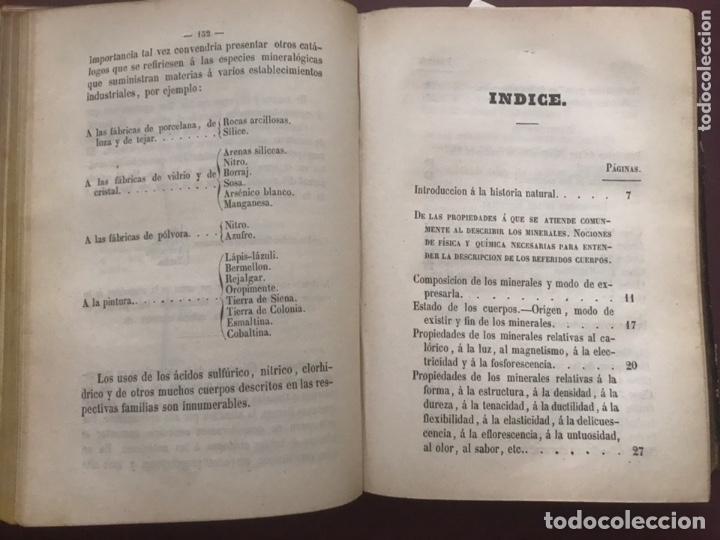 Libros antiguos: 1858 - Miguel Bosch - Manual de mineralogía y Manual de Botanica - Foto 5 - 209238427