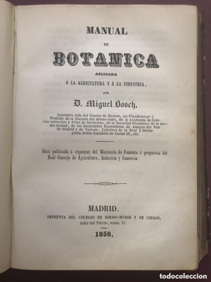 Libros antiguos: 1858 - Miguel Bosch - Manual de mineralogía y Manual de Botanica - Foto 6 - 209238427
