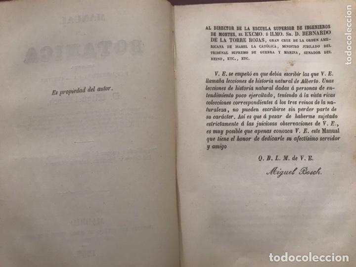 Libros antiguos: 1858 - Miguel Bosch - Manual de mineralogía y Manual de Botanica - Foto 7 - 209238427
