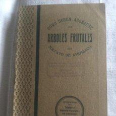 Libros antiguos: COMO DEBEN ABONARSE LOS ARBOLES FRUTALES CON SULFATO DE AMONIACO 1917 - MIGUEL MAYOL GARCIA - 31P.. Lote 209240062