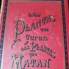 Libros antiguos: LAS PLANTAS QUE CURAN Y LAS PLANTAS QUE MATAN MONTANER Y SIMÓN 1887. Lote 209710487