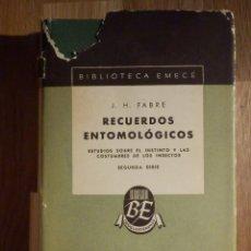 Libros antiguos: RECUERDOS ENTOMOLÓGICOS - J.H. FABRE - ESTUDIO INSTINTO Y COSTUMBRE INSECTOS -. Lote 210970822