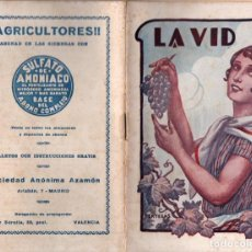 Libros antiguos: MIGUEL MAYOL GARCÍA : FORMA DE ABONAR LA VID CON SULFATO DE AMONIO (AZAMÓN, C. 1930). Lote 211602810