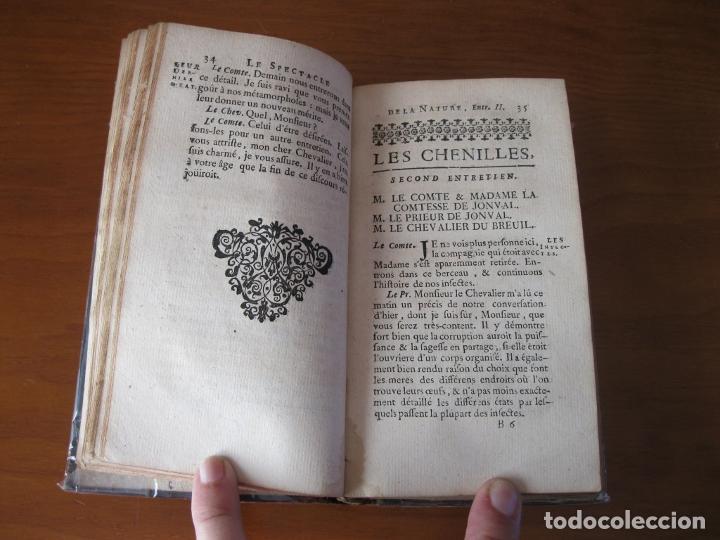 Libros antiguos: Le Spectacle de la Nature, vol. I, 1736. A. Pluche. Numerosos grabados - Foto 8 - 211695023