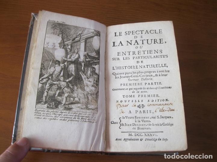 LE SPECTACLE DE LA NATURE, VOL. I, 1736. A. PLUCHE. NUMEROSOS GRABADOS (Libros Antiguos, Raros y Curiosos - Ciencias, Manuales y Oficios - Biología y Botánica)