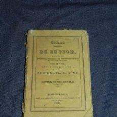Libros antiguos: (MF) OBRAS DE BUFFON POR CUVIER, HISTORIA DE LOS ANIMALES TOMO II , BARCELONA 1833, 259 PAG. Lote 211949085