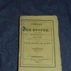 Libros antiguos: (MF) OBRAS DE BUFFON POR CUVIER, CUADRUPEDOS TOMO VII , BARCELONA 1833, 257 PAG. Lote 211953862