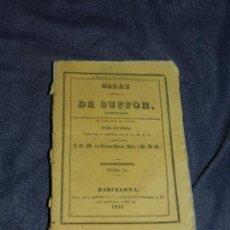Libros antiguos: (MF) OBRAS DE BUFFON POR CUVIER, CUADRUPEDOS TOMO XI , BARCELONA 1833, 262 PAG. Lote 211954081