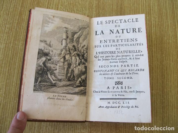 LE SPECTACLE DE LA NATURE, TOMO II, 1752. A. PLUCHE. GRABADOS (Libros Antiguos, Raros y Curiosos - Ciencias, Manuales y Oficios - Biología y Botánica)