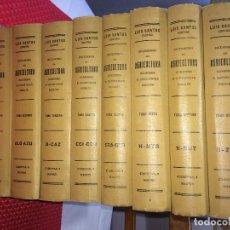 Libros antiguos: DICCIONARIO DE AGRICULTURA - GANADERÍA E INDUSTRIAS RURALES - 8 TOMOS - SIGLO XIX - OBRA COMPLETA. Lote 212931025